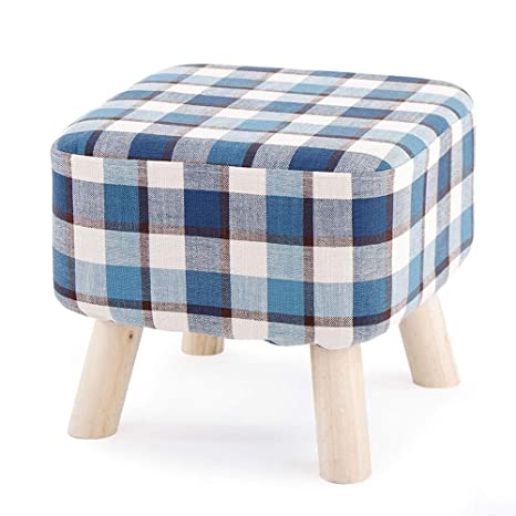 Amazon.com: Paddia Wooden Legs Foot Stools Cloth Square ...