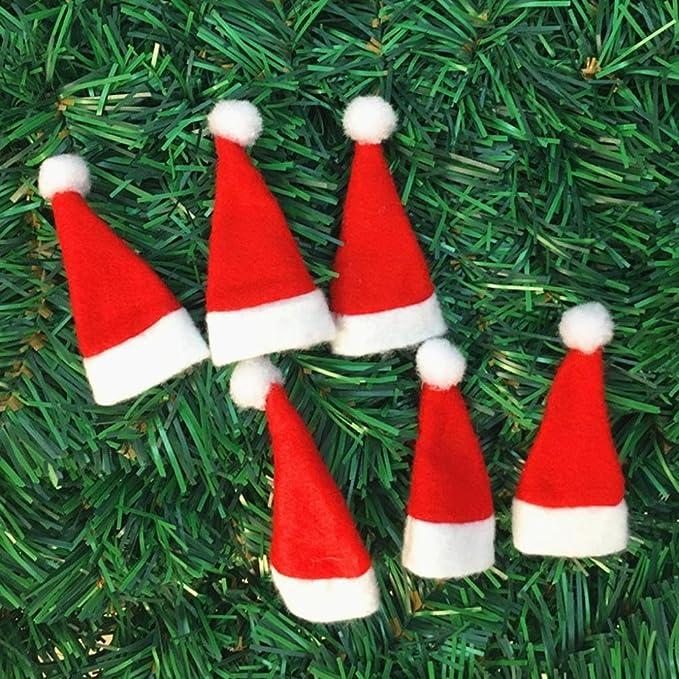 Gorro de Navidad decoración, xinantime Navidad decorativo vajilla cuchillo tenedor Set Gorro de Navidad Herramienta de almacenamiento, tela, Rojo, ...
