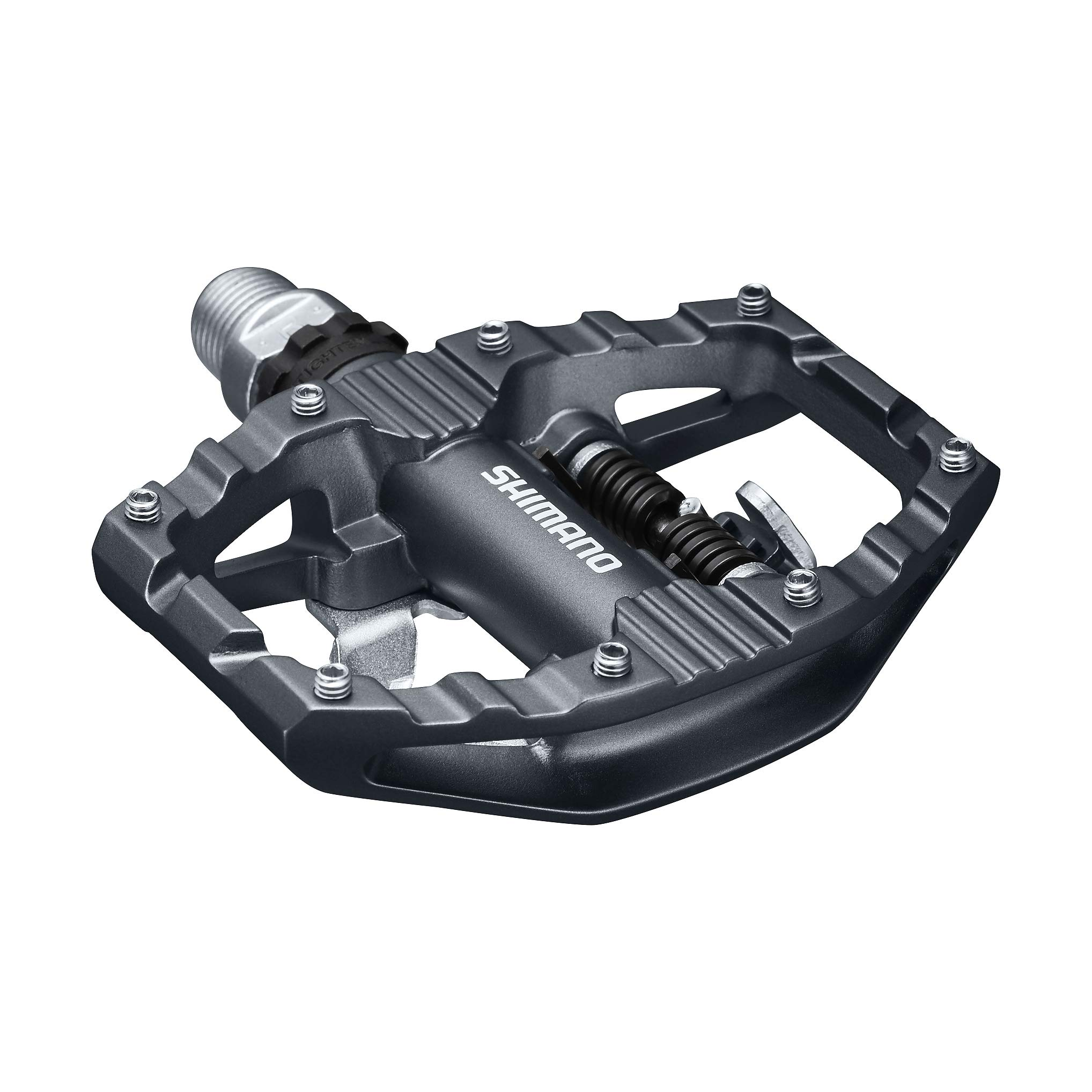 PD-EH500; SPD Bike Pedals; Cleat Set Included; Dual Sided Platform