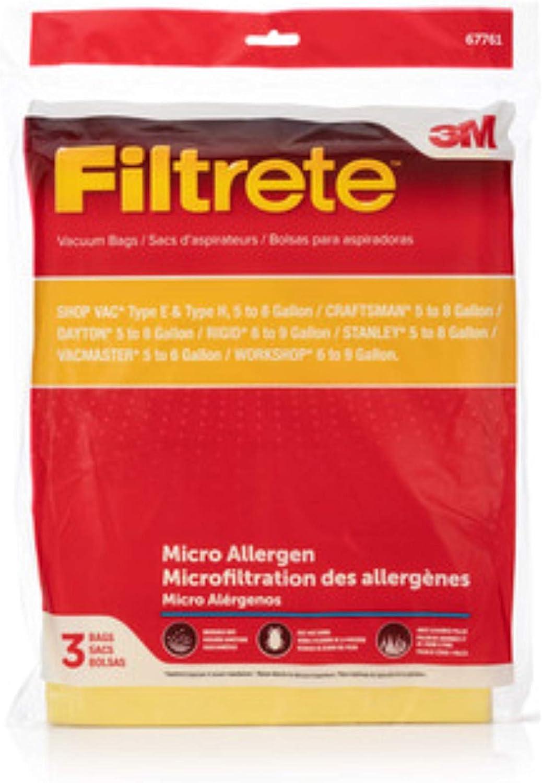 Electrolux 3M Shop Vac 5-8 Gallon Micro Allergen Bag Pkg