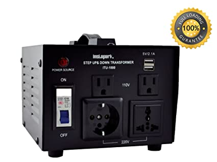 Amazon.com: Instapark ITU-1000 Series Heavy-duty AC 110/220V Step Up ...