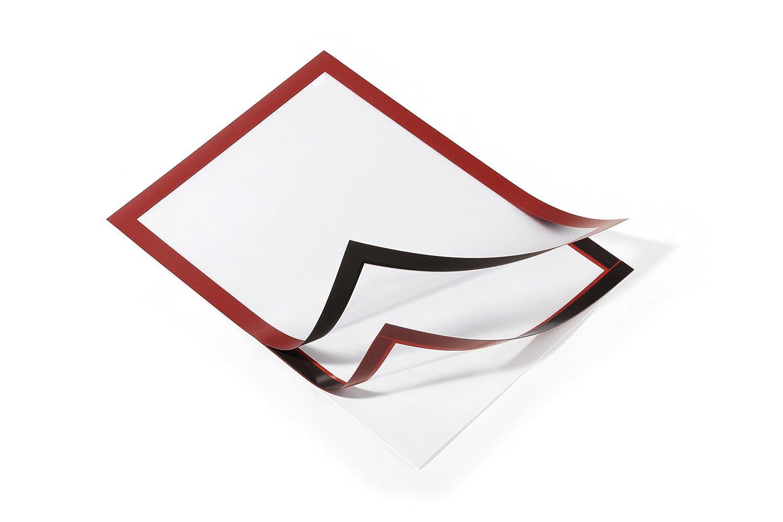 per Superfici Lisce e Solide Duraframe Cornice Espositiva Adesiva Formato A4 Durable 487201 Confezione da 2 Pezzi Nero