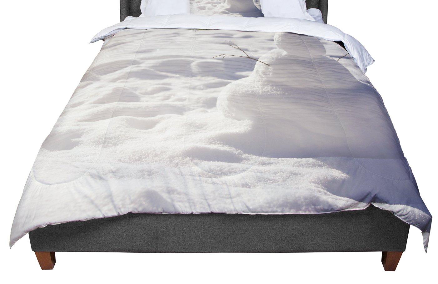 KESS InHouse Angie Turner Snowman White Nature Twin Comforter 68 X 88