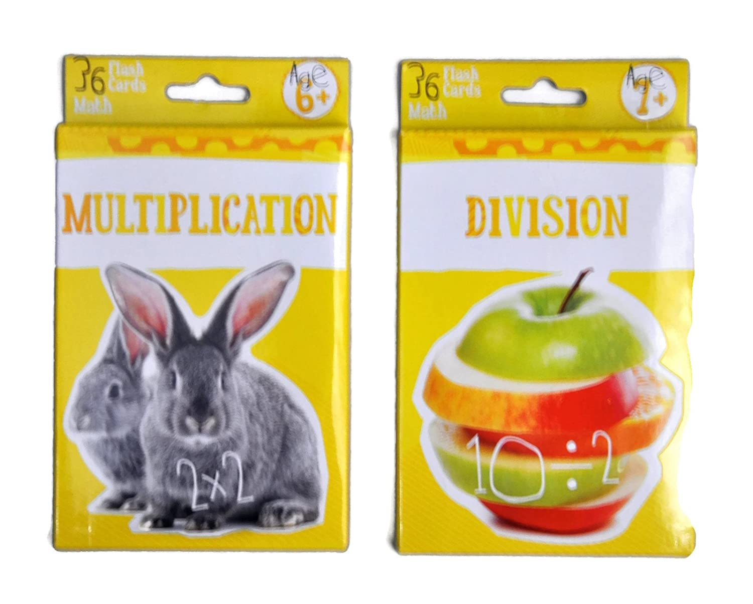Multiplication & Division Flashcards - Math for 3rd Grade 4th Grade - Learning Practise Flash Card Bundle   B074DP54YS