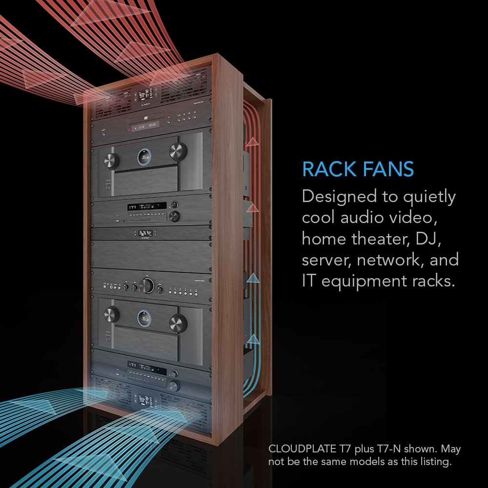 "Home Theater for cooling AV Rack Mount Fan Panel 2U AC Infinity CLOUDPLATE T7 Exhaust Airflow Network 19/"" Racks"