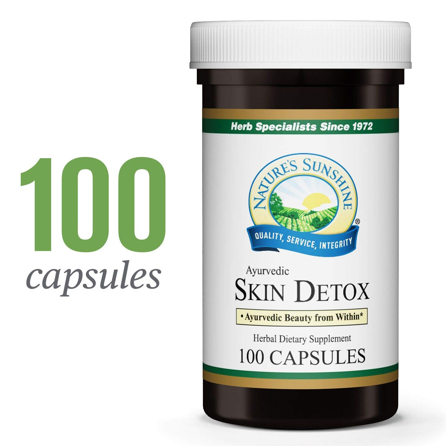 Nature s Sunshine Ayurvedic Skin Detox, 100 Capsules Helps Pull Toxins from The Skin to Support Skin Health and Support The Structural System