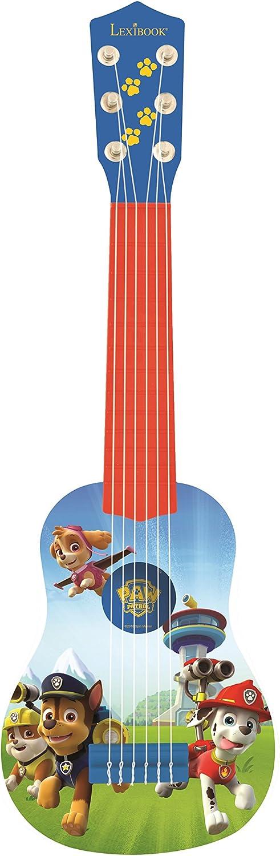 Lexibook K200PA La Patrulla Canina-Mi primera guitarra, 53cm, 6 cuerdas, instrumento infantil a partir de 3 años