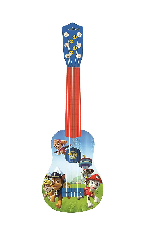 Lexibook K200PA PAW Patrol Helfer auf vier Pfoten Chase Gitarre, 6 echte Nylon Saiten, Groß für die Kleinen Fingern, Blau/ Orange LEXIBOOOK