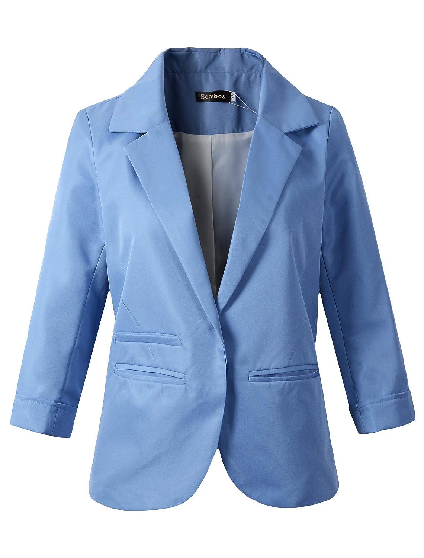 Women's Boyfriend Blazer Tailored Suit Coat Jacket