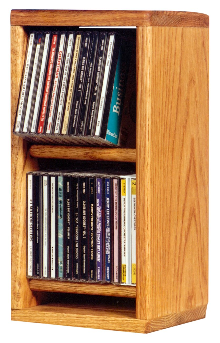 Wood Shed The 206 C Solid Oak CD Cabinet, Clear by Wood Shed