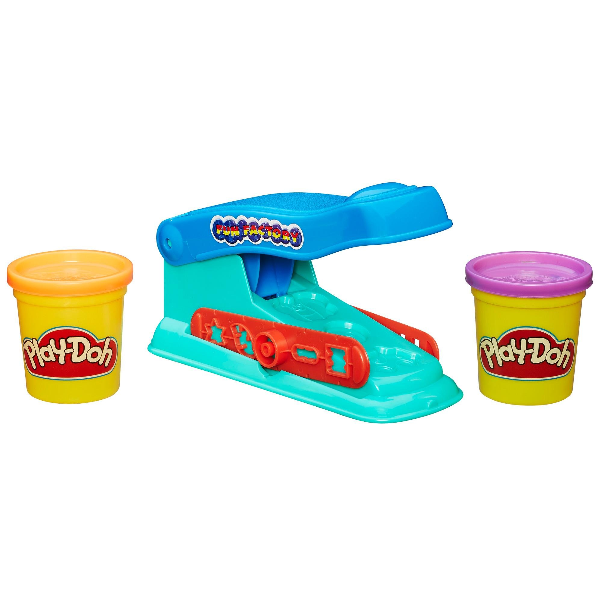 Play-Doh Fun Factory Set + Play-Doh Rainbow Starter Pack Bundle