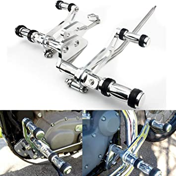 TARAZON Polished Silver Forward Controls for Harley Dyna FXDB FXDC FXDL 2006-2016