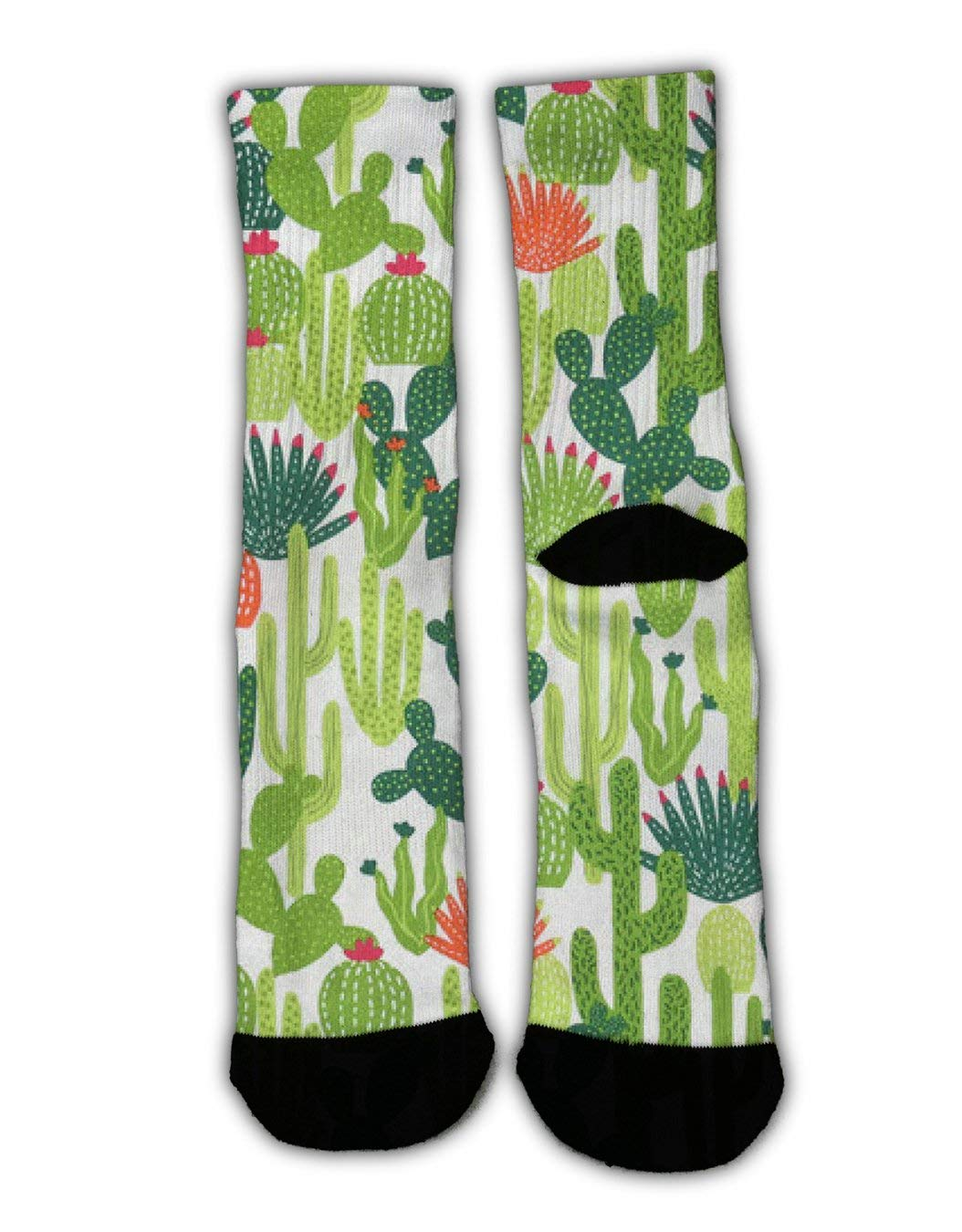 YEAHSPACE Boys Girls Wilder California Cactus Dress Socks Funny Colorful Cool Crew Socks for Teen Christmas Holiday Cotton Cozy Warm Socks Winter Gifts