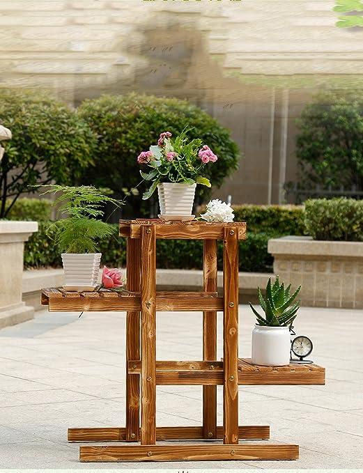 LB Pérgolas de madera, madera de flores de múltiples capas, madera montados en la olla de la flor de araña planta baja Estantería para macetas (Tamaño : B1) : Amazon.es: Jardín
