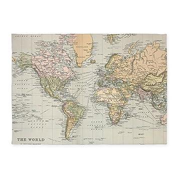 1892 Map Of The World.Amazon Com Cafepress Vintage Map Of The World 1892 Decorative