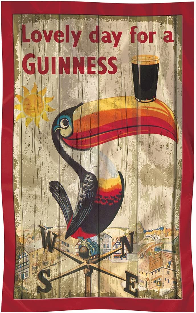 Serviette en coton 100 /% avec toucan embl/ématique produit officiel Guinness