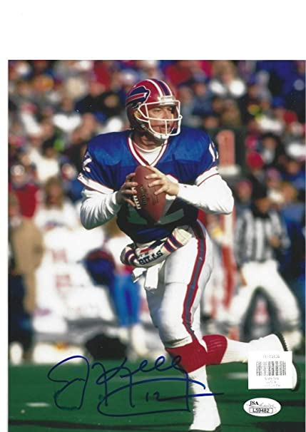 8fc483e7454 Image Unavailable. Image not available for. Color  NFL Buffalo Bills Jim  Kelly  12 Qb Autographed ...