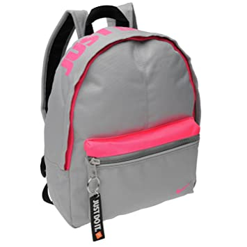 a8068d479b Nike Mini Base Backpack Grey Pink Rucksack Sports Bag Gymbag Kitbag H  30cm