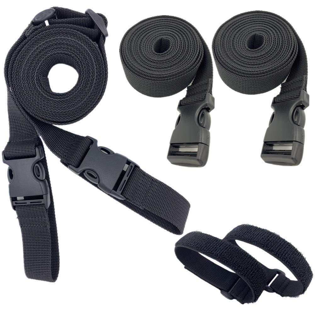 Utility Straps with Quick Release Buckle Adjustable Wagon Securing Straps 98 inch Packing Solution Kit Backpack Sleeping Bag Accessories Luggage Lash Strap 5 Pcs by Yotek