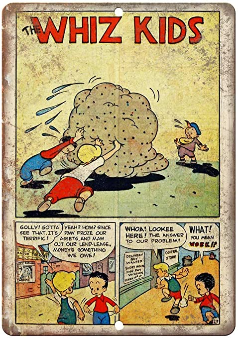 HiSign The Whiz Kids Comic Retro Cartel de Chapa Coffee ...