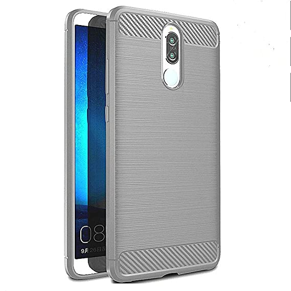 on sale ce784 73e3d Sucnakp Compatible with Huawei Mate 10 Lite Case,TPU Shock Absorption  Technology Raised Bezels Protective for Mate 10 Lite(TPU Gray)