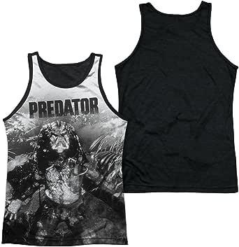 Depredador en la Jungla Mens Tank Top Camiseta con Dorso Negro (Blanco, XXX-Grande): Amazon.es: Ropa y accesorios