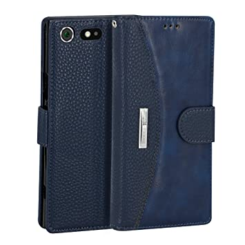 98a8a1a50d6 IDOOLS Funda Sony Xperia XZ Premium, Funda de Cuero para Teléfono con  Ranura para Tarjeta, Cartera Carcasa Piel, Soporte para Teléfono Móvil:  Amazon.es: ...