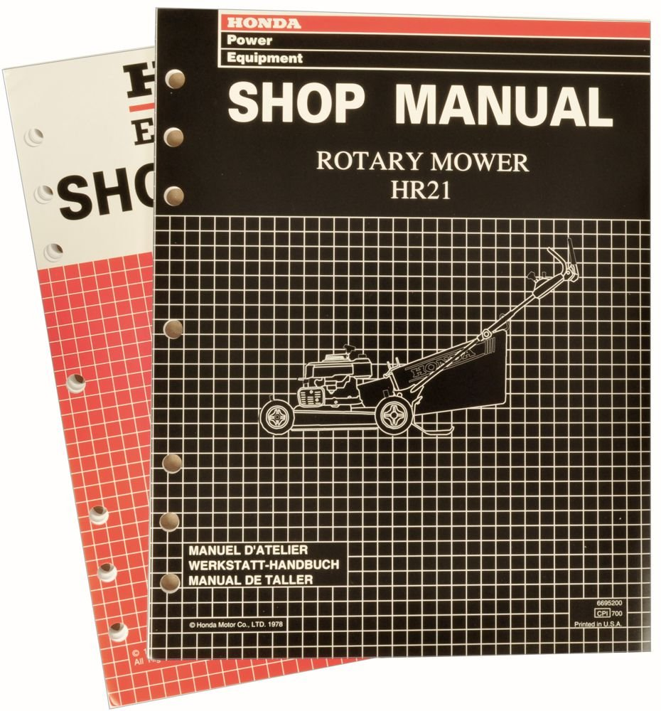 Amazon.com : Honda HR21 Lawn Mower Service Repair Shop Manual : Lawn And  Garden Tool Replacement Parts : Garden & Outdoor