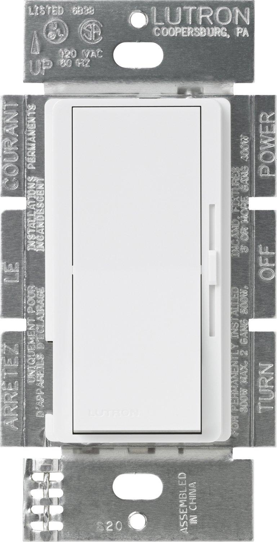 Lutron DVF-103P-WH Diva 1000-watt 3-Way 3-Wire Fluorescent Dimmer, White