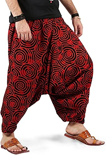 Kiara Boho Hippie Baggy Gypsy - Pantalones de algodón con ...