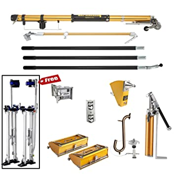 tapetech full set of drywall tools with stilts - - .com