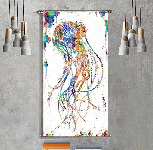 Wall Tapestry Hanging Urban Outfitters Jellyfish Art Canvas Painting Prints Decoration Bedroom Livingroom Home