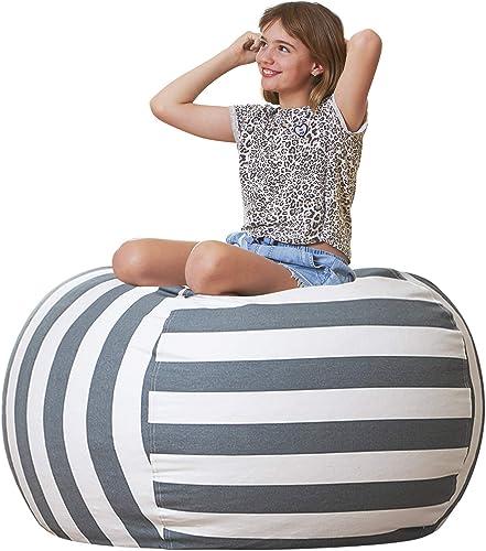 Cheap Aubliss Stuffed Animal Storage Bean Bag Chair Cover Only bean bag chair for sale