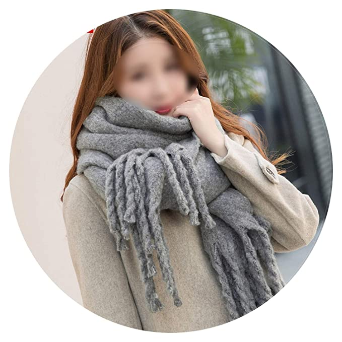028dcaa77 Image Unavailable. Image not available for. Color: 2018 Winter Scarf Women  Cashmere Wool Scarves Shawls Soft ...