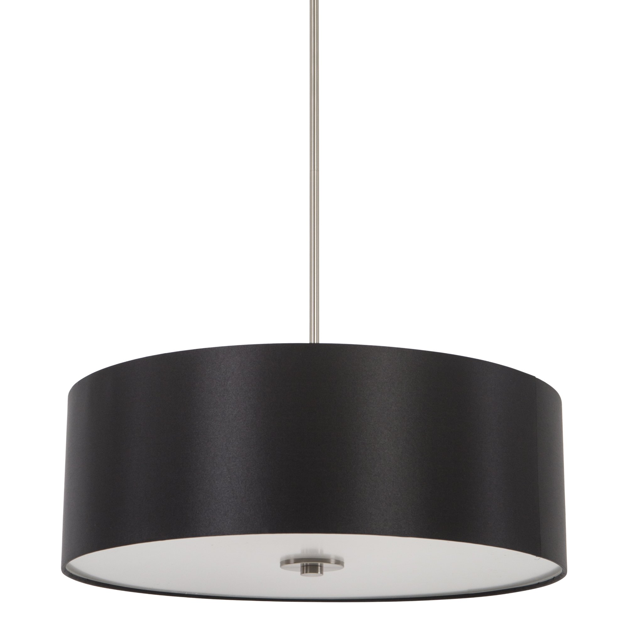 Yosemite Home Decor SH2207-4P-BSSS Lyell Forks Family 4-Light Satin Steel Pendant with Black Stealth Shade, Black