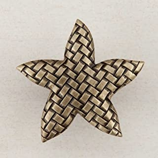 product image for Acorn Manufacturing DP9AP Artisan Collection Woven Star Knob44; Antique Brass