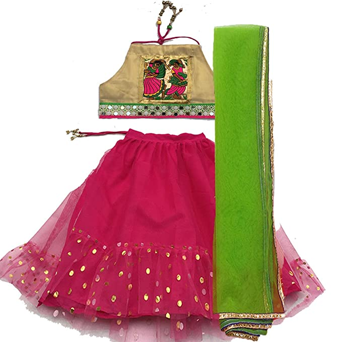 Aglare Girl's Cotton Lehenga Choli Girls' Lehenga Cholis at amazon