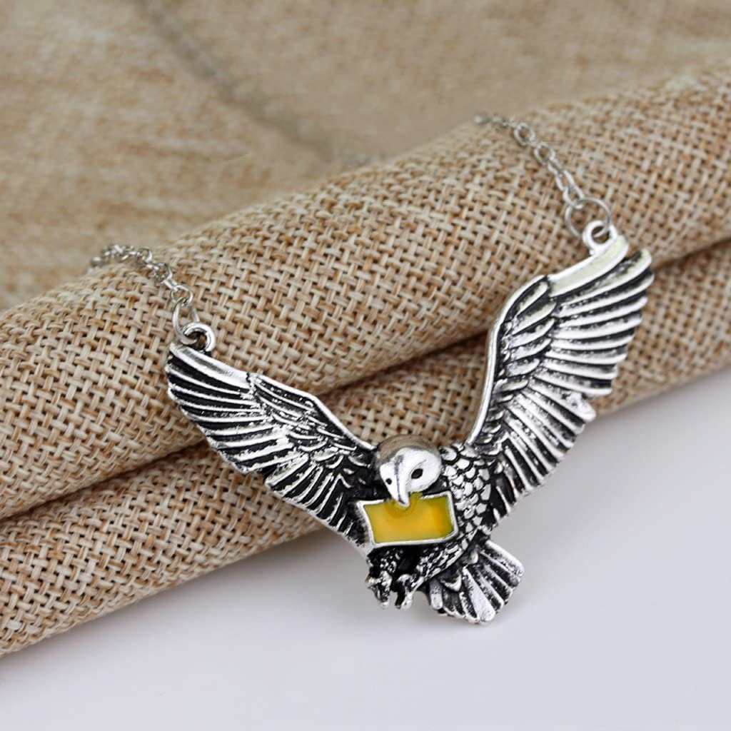 Exing Pendentif Collier Cha/îne Ras du Cou pour Femmes Hommes Harry Potter Acceptation Lettre Pigeon Pendentif