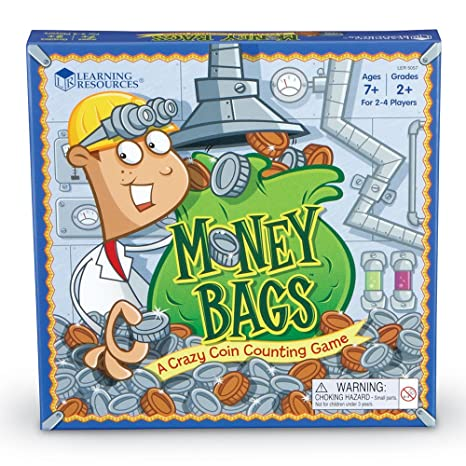 Amazon.com: Learning Resources - Money Bags Coin Value Game: Toys ...