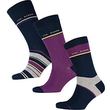 Super discount price sale uk Ted Baker Mens Three Pack Socks