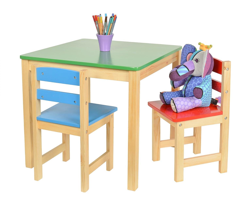 Tavolini In Legno Per Bambini : Set tavolino cm con sedie per bambini color rosso
