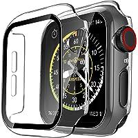 TAURI 2-pak etui do zegarka Apple Watch 44 mm seria 6 5 4 SE wąskie twarde etui PC wbudowane szkło hartowane ochraniacz…