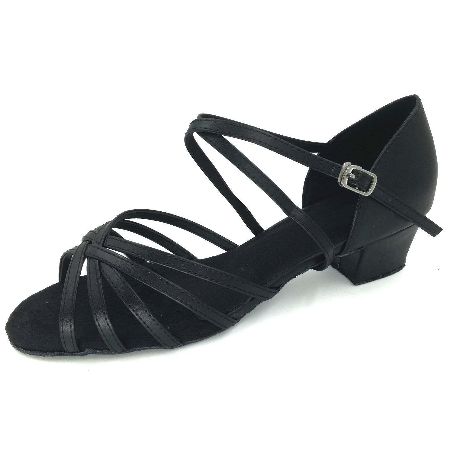 LOVELY BEAUTY Lady's Ballroom Dance Shoes for Chacha Latin Salsa Rumba Practice B076CPLBDQ 8.5 B(M) US Black