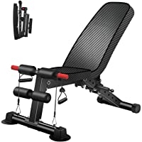 Adjustable Weight Bench - Utility Weight Benches for Full Body Workout, Foldable Flat/Incline/Decline Exercise Multi…
