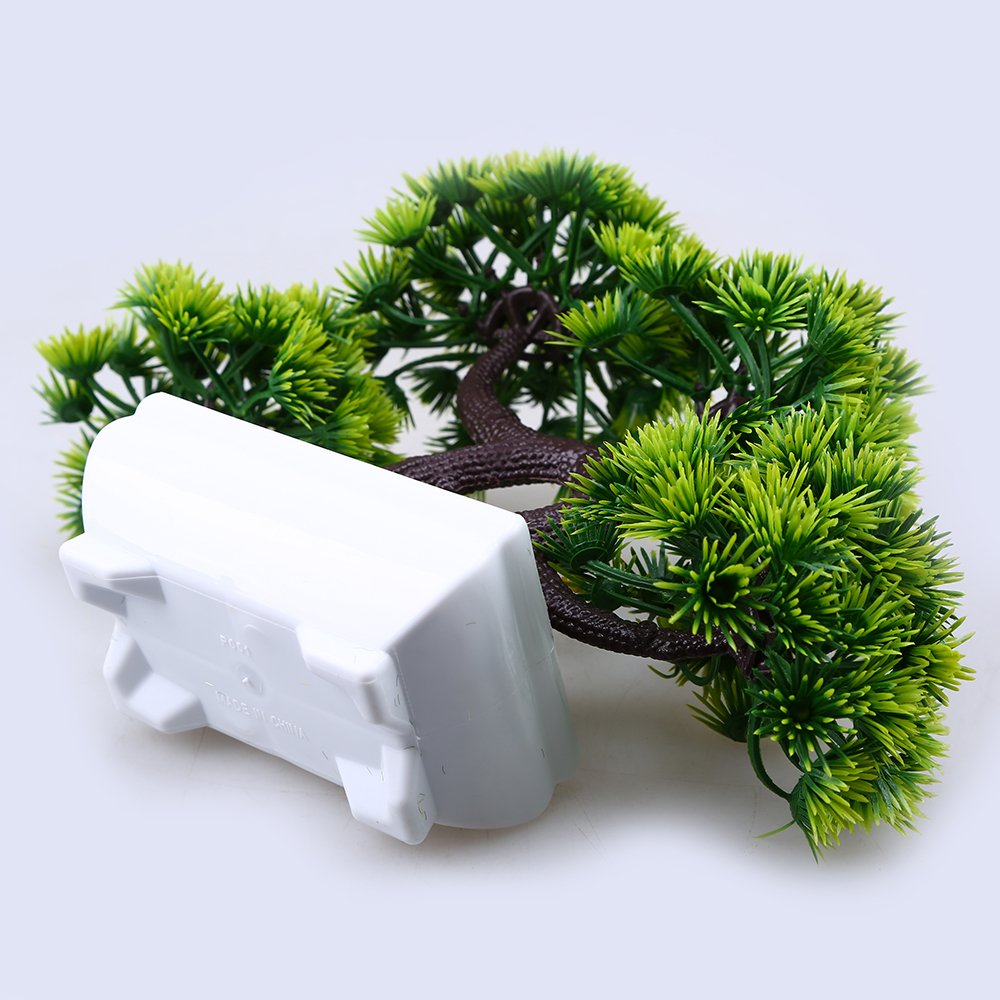 WCIC Artificial Pine Bonsai, Fake Potted Plants Decor for Home Office Green by WCIC (Image #4)