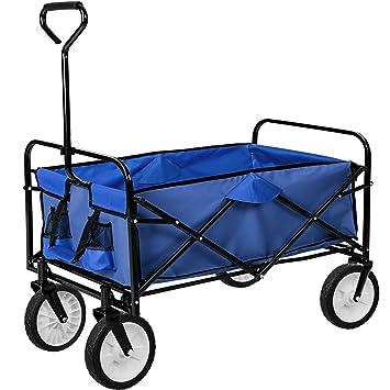 TecTake Carro de mano plegable y abatible carrito de transporte | Carga 80kg | -disponible en diferentes colores- (Azul | no. 402595): Amazon.es: Hogar