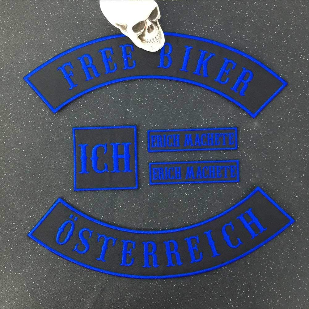 Custom Patch Weste Biker Motorrad Rocker Name Patches for jacket black on black