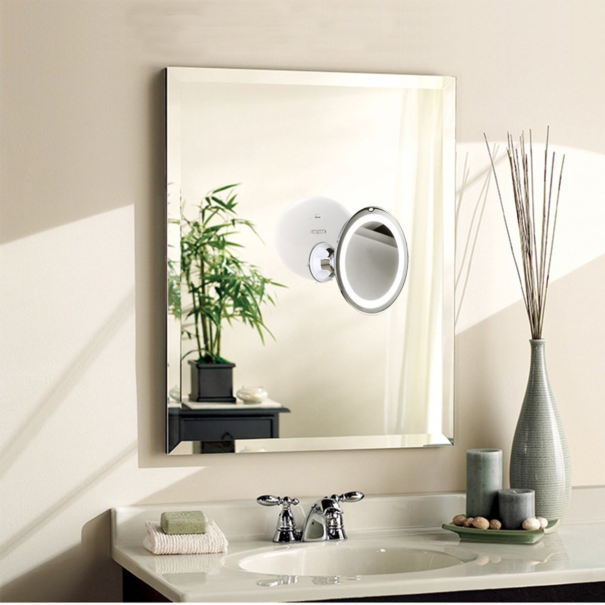 Amazon.com: RUIMIO Lighted Makeup Mirror with 7X Magnification and ...