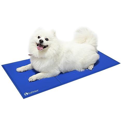 GoPetee Alfombrilla de Refrigeración para Mascotas Cama de Perro y Gato para Verano Animales Manta de. Pasa el ...