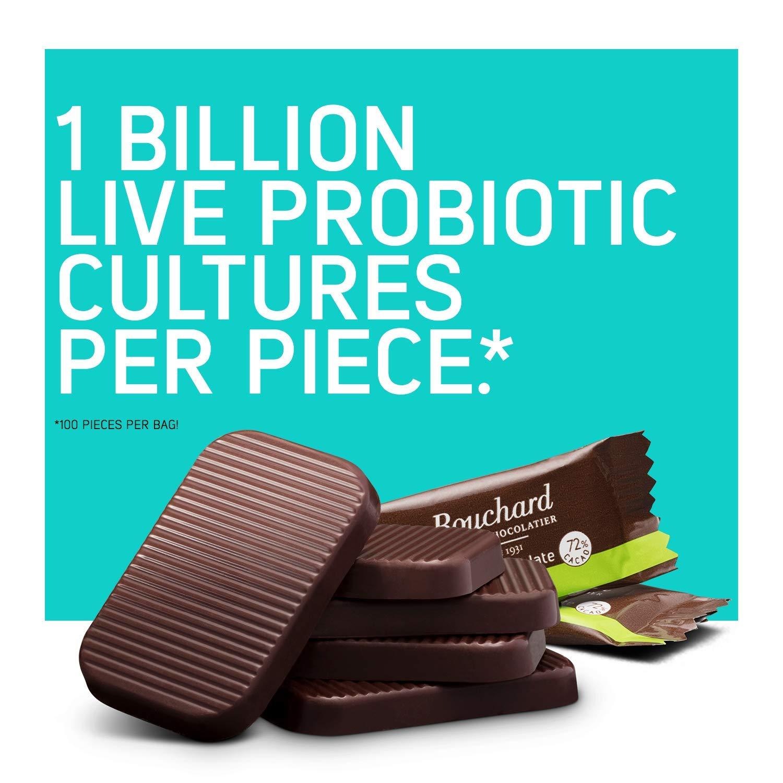 Bouchard Belgian Dark Chocolate Gluten-Free 72 % Cacao with Probiotics (100 Pieces) by Bouchard (Image #2)
